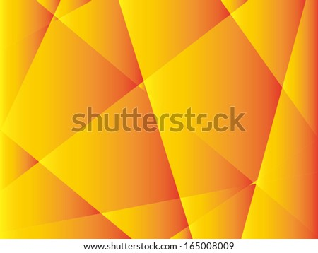 Colorful orange polygon abstract background, vector - stock vector