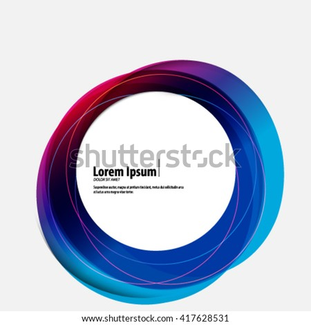 Colorful Overlapping Circles Layout/Design Cover Background  - stock vector