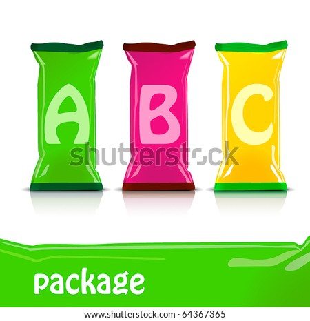 Colorful package set - stock vector