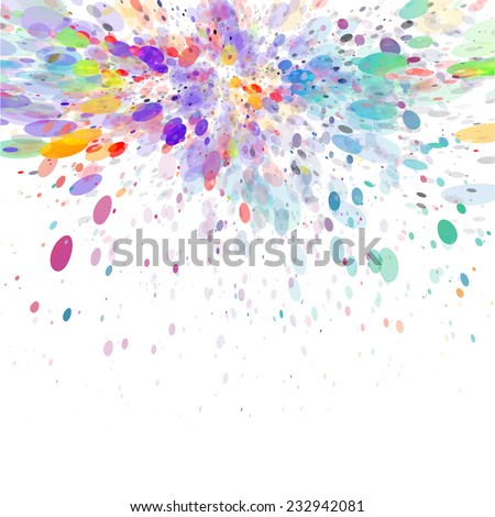 colorful paint splash background, ideal for celebration & invitation & festival concept works. - stock vector