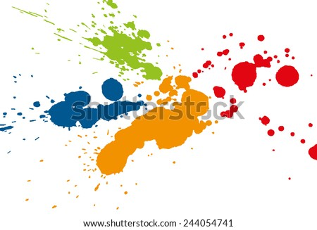 Colorful paint splatter