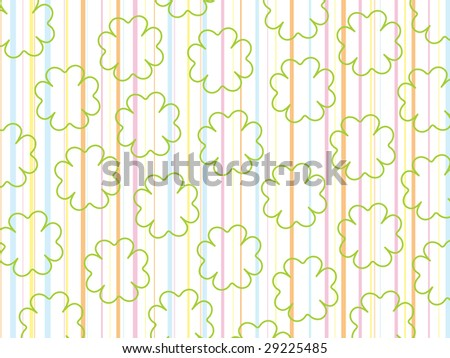colorful panel line background with clover shape - stock vector