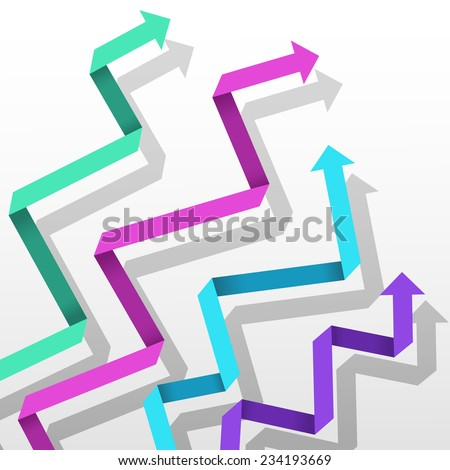 Colorful paper arrow background. Vector eps10 illustration. - stock vector
