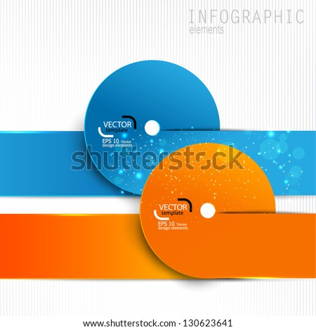 Colorful paper design elements on white background. Vector template for infographics - stock vector