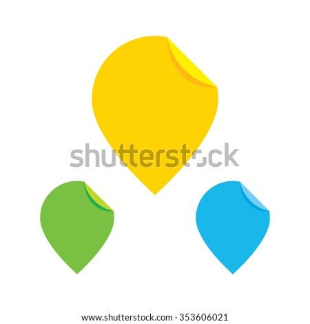 Colorful Paper Pin Pointers - stock vector