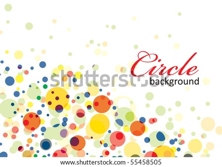 Colorful particle background, vector illustartion. - stock vector