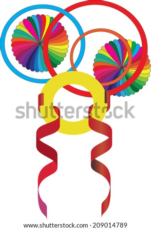 Colorful parts of decoration - stock vector