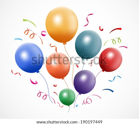 Colorful party balloons - stock vector