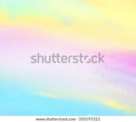 Colorful pastel hand drawn paper texture vector decorative card. Abstract watercolor vivid brush painted stroke paper texture illustration for scrapbook, cover, web, print, template, wallpaper, design - stock vector