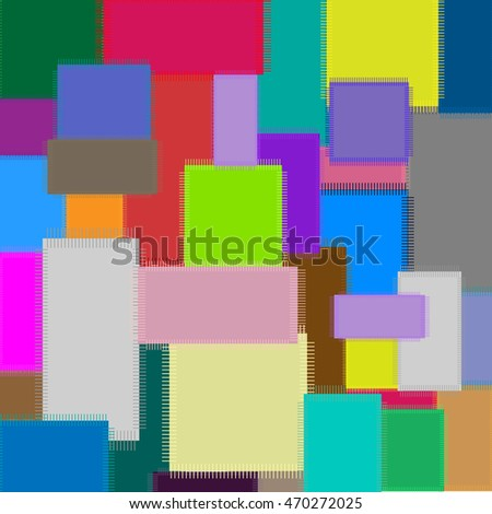 Colorful patchwork - abstract background vector