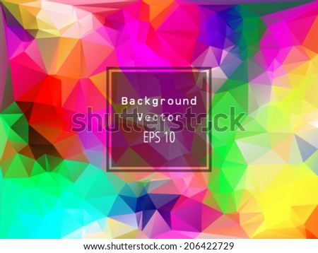 Colorful pattern polygons - stock vector