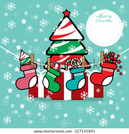 Colorful Pattern with Christmas Elements.Vector Background.