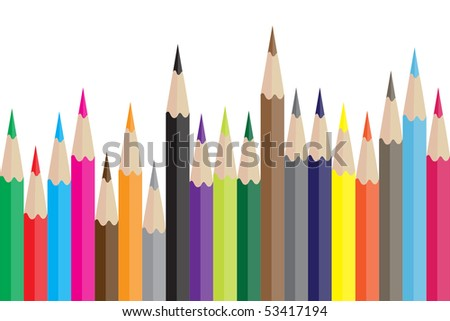 Colorful Pencil in vector