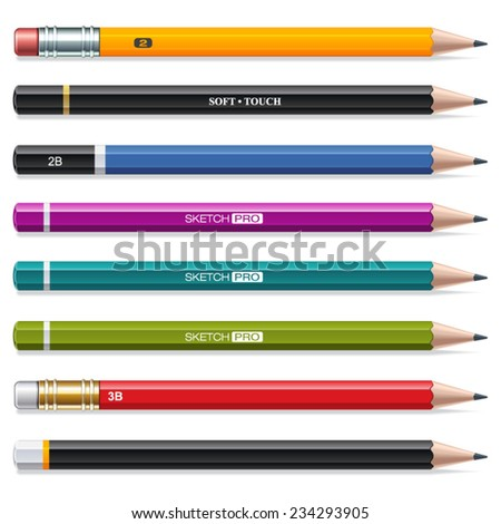 Colorful Pencils for Drawing and Sketching