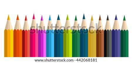 Colorful pencils vector illustrations