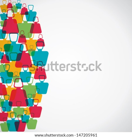 colorful people background  stock vector - stock vector