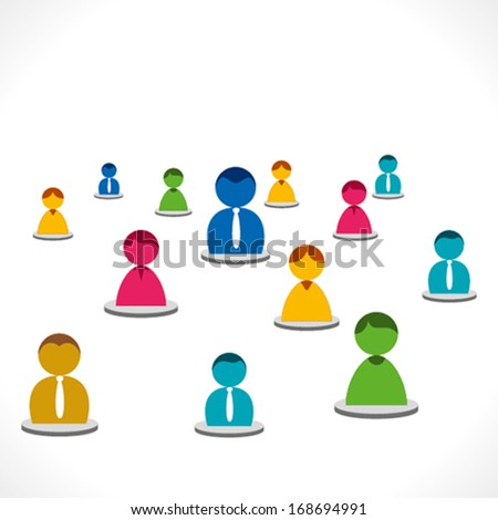 colorful people network or background vector - stock vector