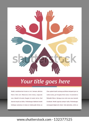 Colorful people with copy space vector. - stock vector