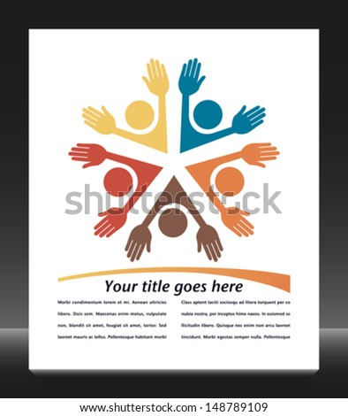 Colorful people with copy space vector.