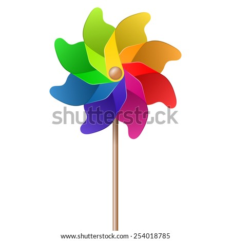 colorful pinwheel - stock vector