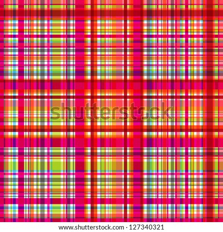colorful plaid seamless background - stock vector