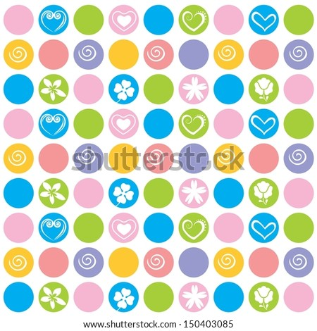 Colorful Polka dots design