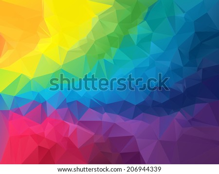 Colorful polygon vector background - stock vector