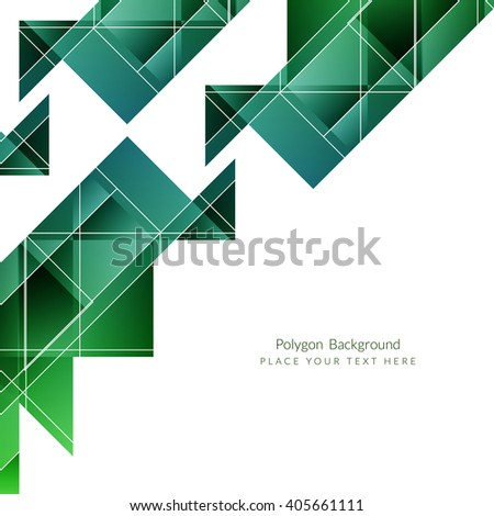Colorful polygonal shape background - stock vector