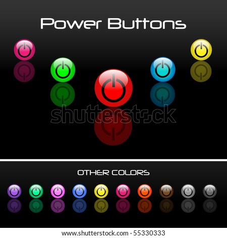 Colorful Power Buttons