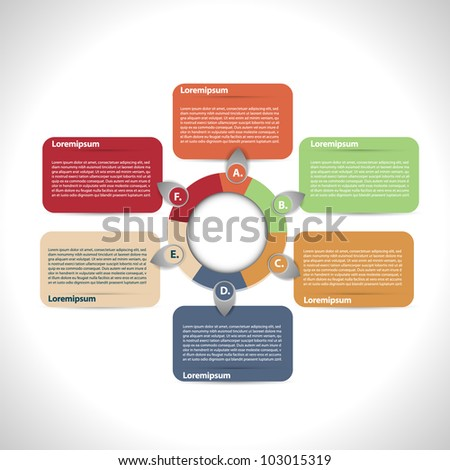 Colorful presentation - stock vector