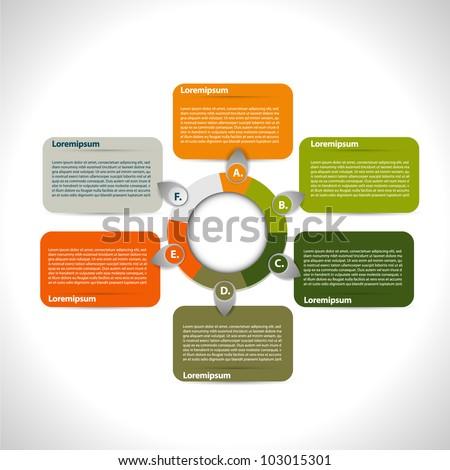 Colorful presentation circle - stock vector