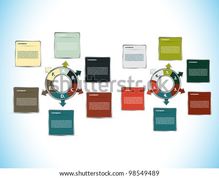 Colorful presentations - stock vector