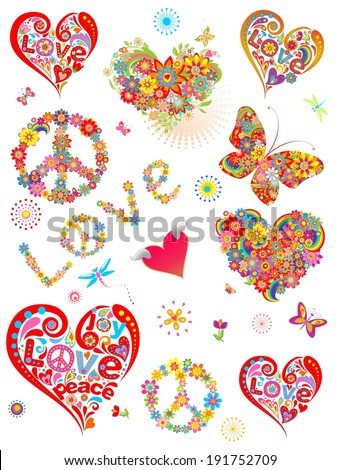 Colorful prints for creative design - stock vector