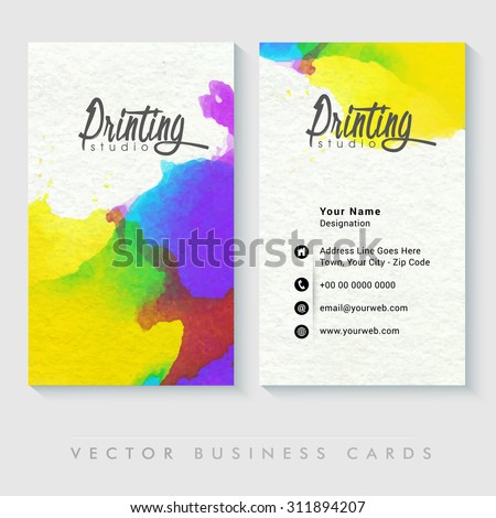 Colorful professional business card design creative stock vector colorful professional business card design for creative industry or design studio reheart Gallery