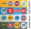 Colorful promo labels and stickers. EPS10. - stock