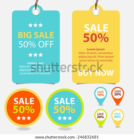 Colorful Promotions Vector - stock vector