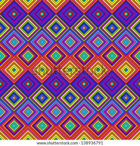 Colorful Psychedelic Pattern - stock vector