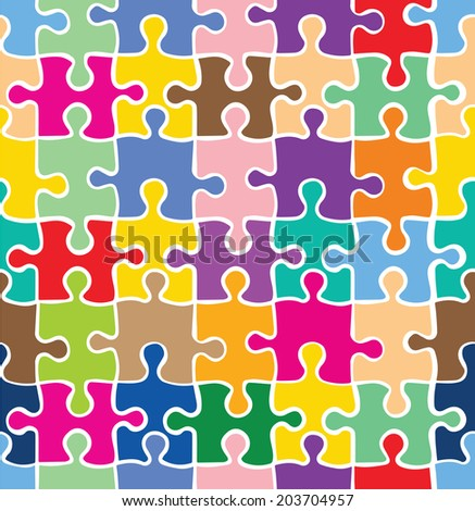 Colorful Puzzle Texture Decorative Pattern Seamless