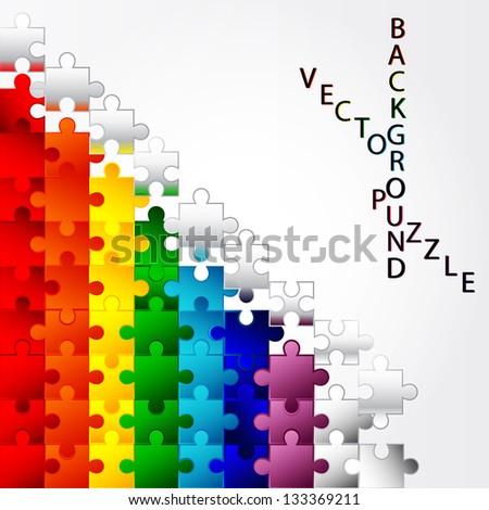 Colorful Puzzle vector design - stock vector