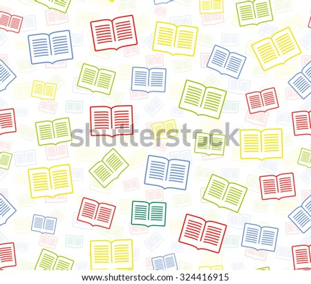 Colorful rain of books. Vector abstract pattern. Grid seamless vector texture. Ornamental tiles and wallpaper on the wall. Unusual ornament.