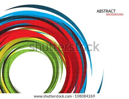 Colorful rainbow background. Vector Illustration. Clip-art - stock vector