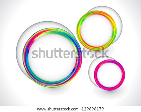 colorful rainbow circle based background vector illustration