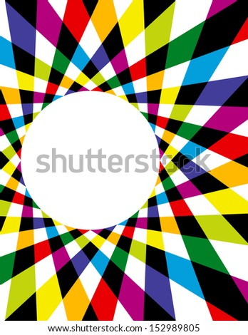 Colorful Rainbow Spirograph Background - stock vector