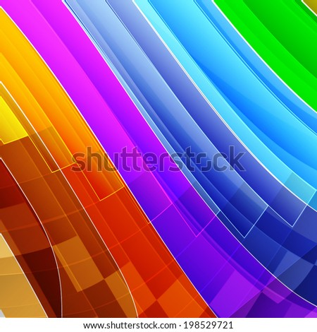 Colorful rainbow striped abstract background. Vector Illustration EPS10. - stock vector