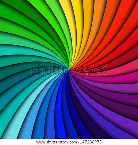 Colorful rainbow swirl - stock vector