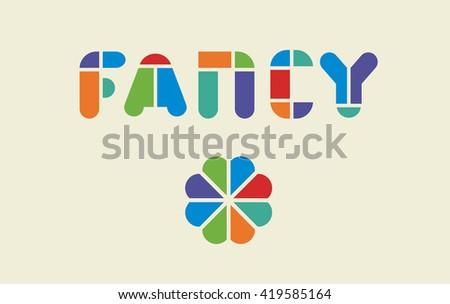 colorful rainbow template logo fancy retro stock vector 419585164