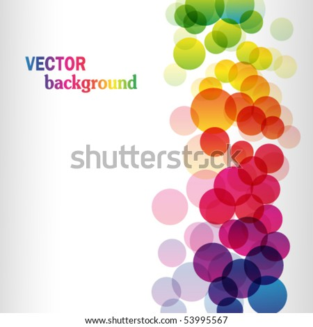 Colorful rainbow vector background with text. Illustration for your design - stock vector