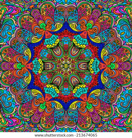 Colorful rectangular ornament for design and background