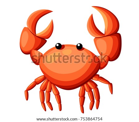 colorful red crab vector illustration sea stock vector hd royalty rh shutterstock com crab factory devon crab factory fire