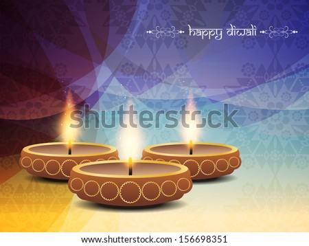 colorful religious background design for diwali festival with beautiful lamps. vector illustration